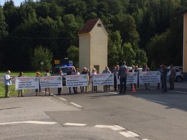Steinbergstraßensperre wegen Bau-Restmassen-Deponie Thal